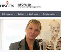 Joanna Culley as one of Hiscox's Small Business Stars