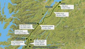 Map of scotland coast route Nairn to Isles of Glencoe & Ballachulish